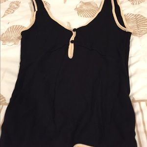 Tops - Anna molinari blk/cream tank top Xs